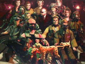 "<p style=""text-align: center;"">G.I.Joes and Me – 2002 – 150x200cm – acrylik on canvas</p>"