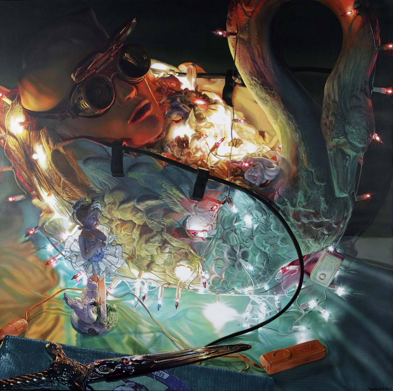 "<p style=""text-align: center;"">Swan-song – 2004-2007 – 150x150cm – acrylik on canvas</p>"