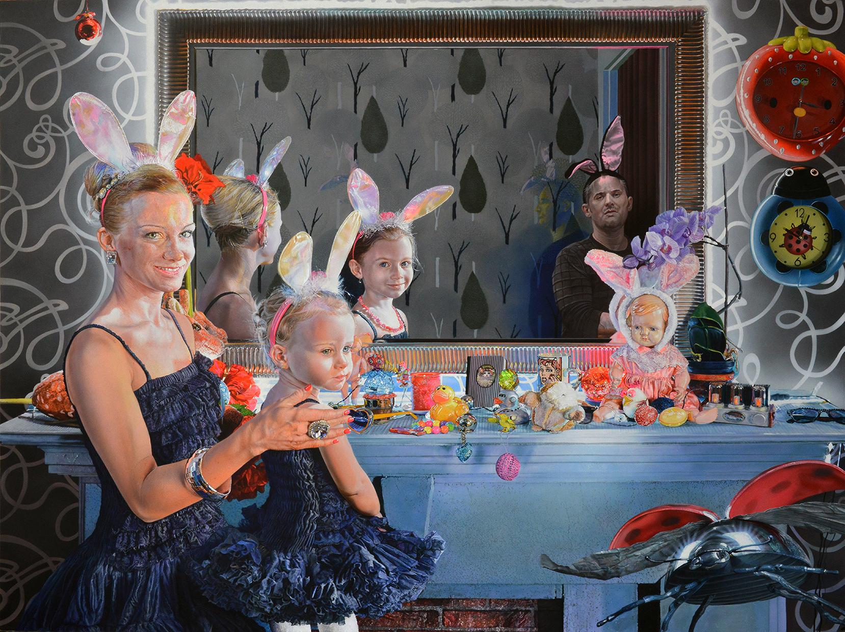 """<p style=""""text-align: center;"""">Family – 2014 – 150x200cm – acrylik on canvas</p>"""