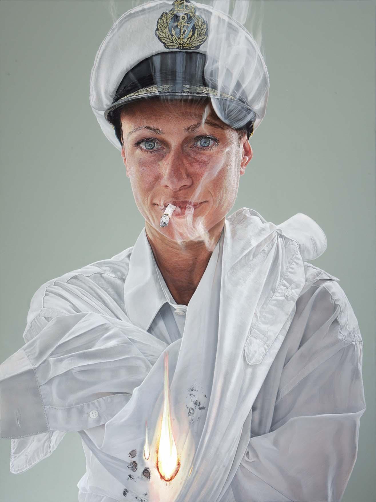 "<p style=""text-align: center;"">Smoking gun – 2009 – 150x200cm – acrylik on canvas</p>"