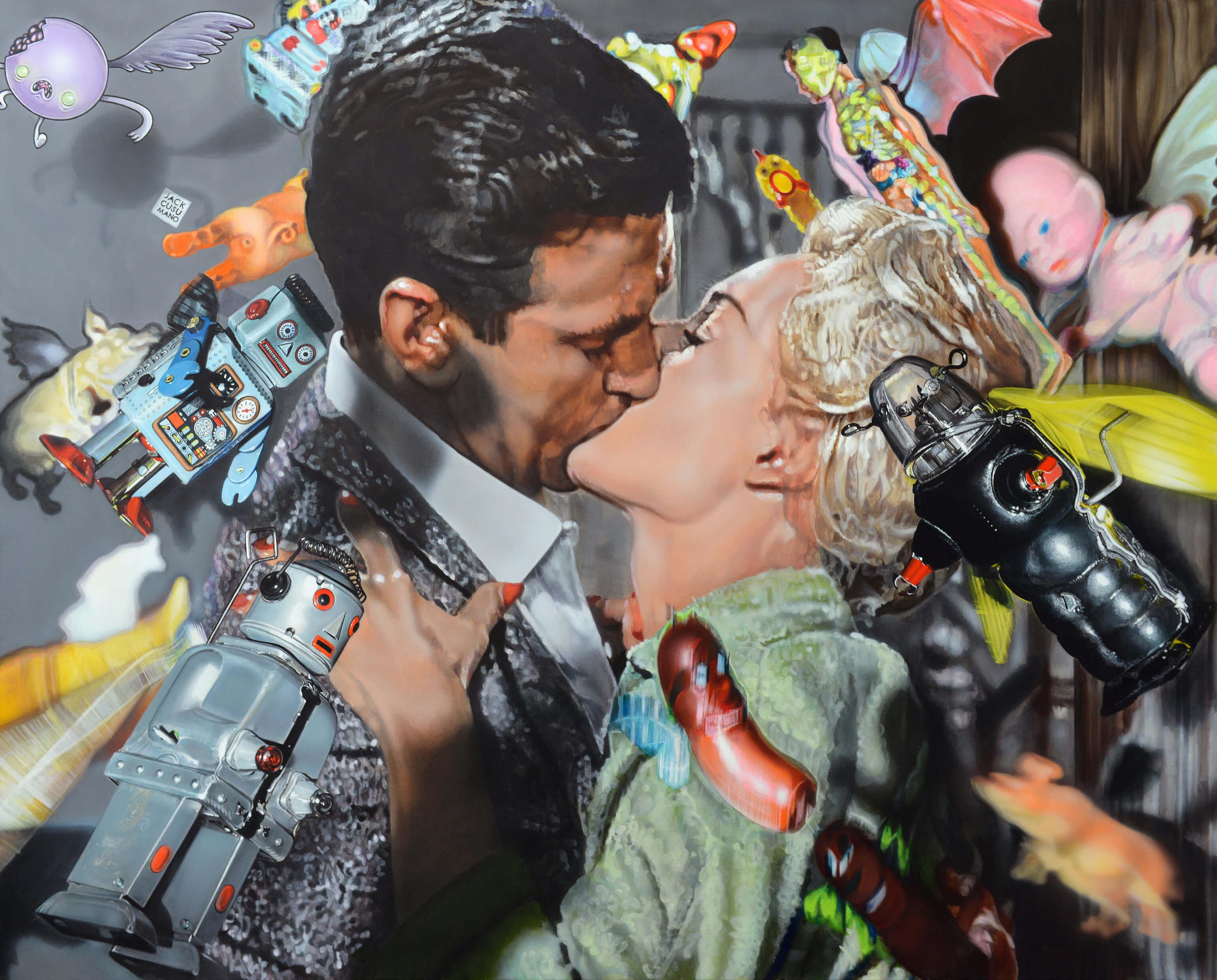 The Birds by Hitchcock & Me - 2017 - 120x150cm- acrylic on canvas