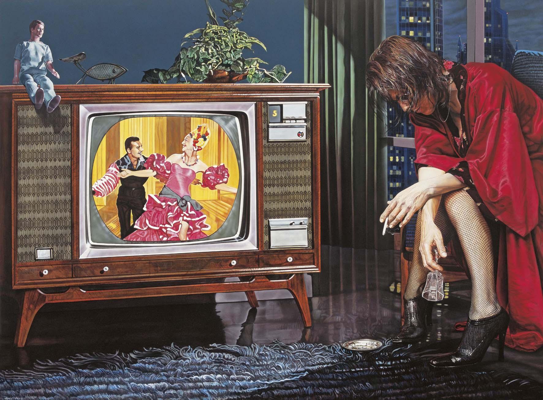 """<p style=""""text-align: center;"""">Bossanova – 2001 – 150x200cm – acrylik on canvas</p>"""