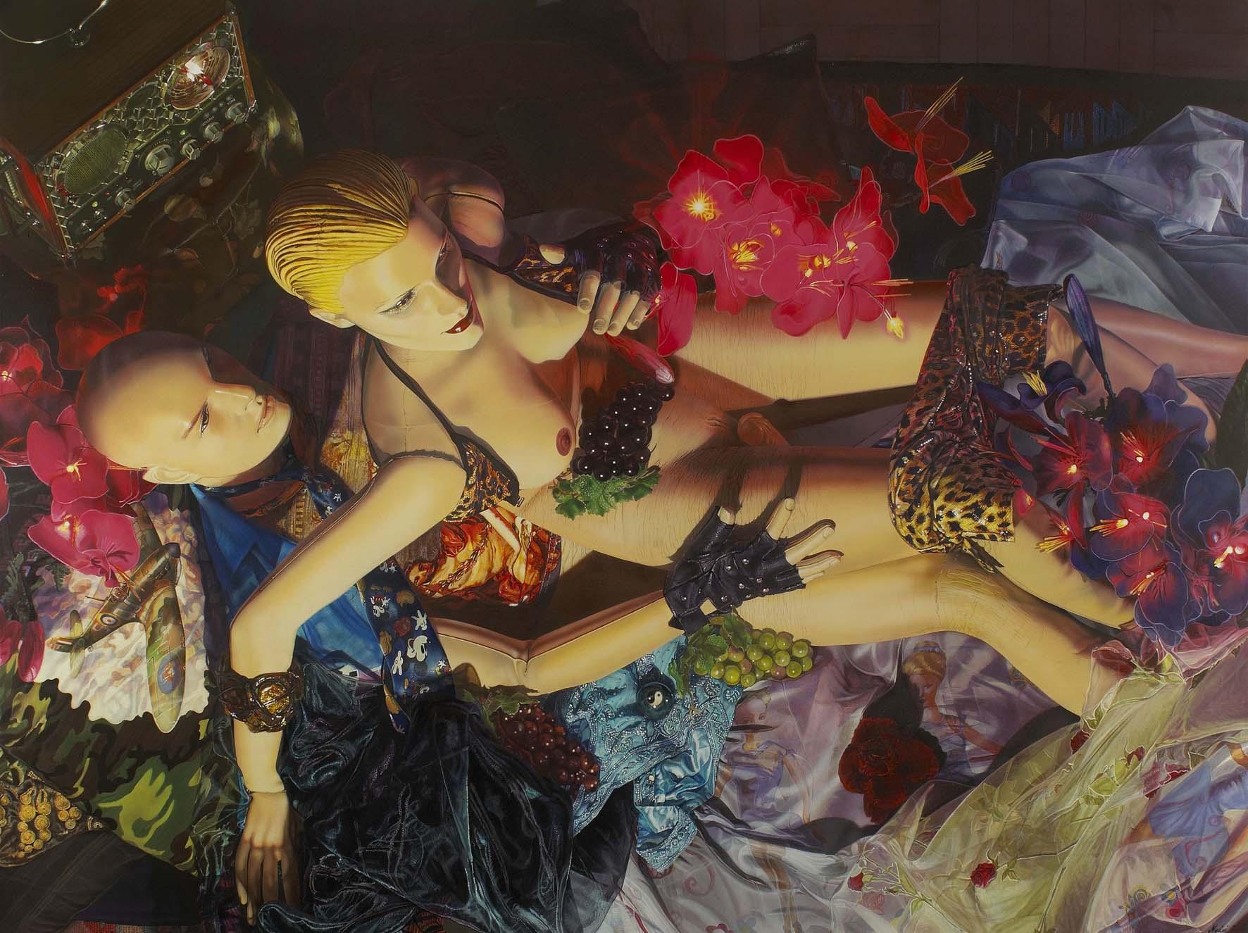 """<p style=""""text-align: center;"""">Love – 2004 – 150x200cm – acrylik on canvas</p>"""
